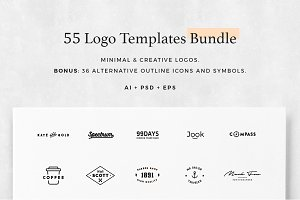 55 Logo Templates Bundle