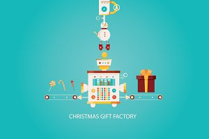 Christmas gift factory