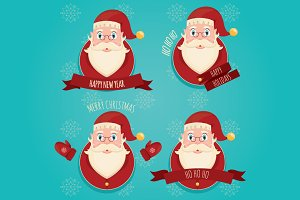 Christmas set of Santa Claus
