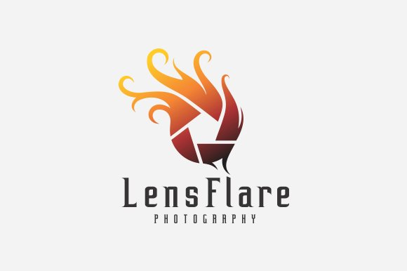 Wedding Photography Studio Logo: Lens Flare Photography Logo