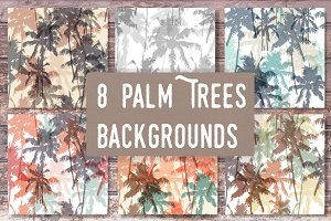 Palm trees backgrounds