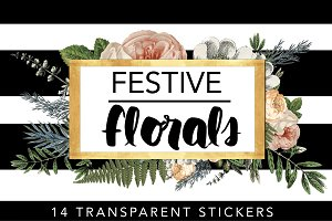 Festive Florals // Tags & Labels