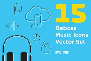 Deboss Music Icons
