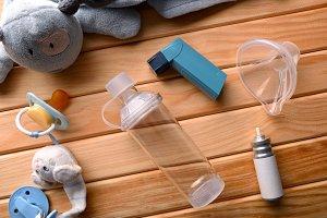 Pediatric inhaler medicine top parts