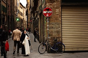 Nun Out for a Walk - Florence