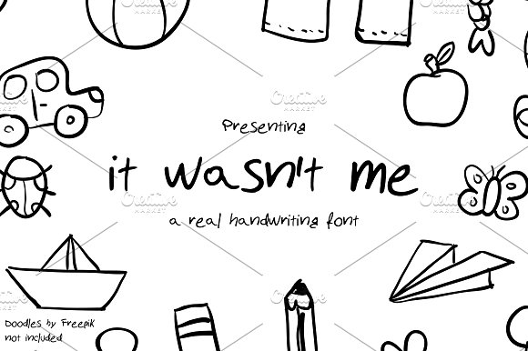 It wasn't me - Handwritten Font