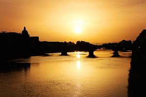 Golden Sunset in Florence