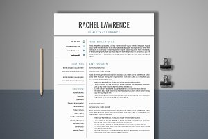 Resume Template 4 Page | Quality CV