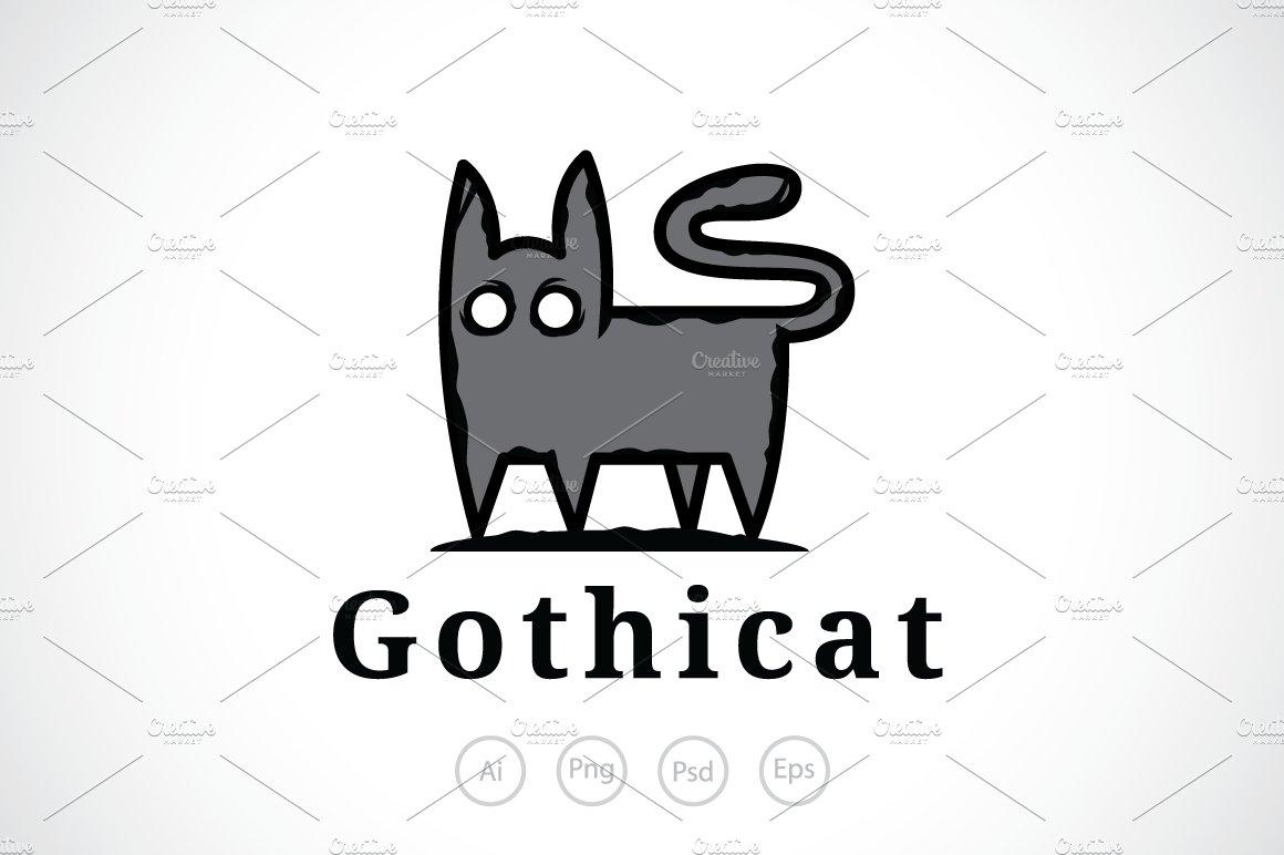 Scary Gothic Cat Logo Template Logo Templates Creative Market