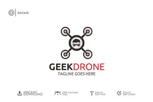 Geek Drone Logo