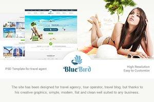 Blue Bird - Tours & Travel PSD Templ