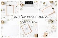 feminine workspace