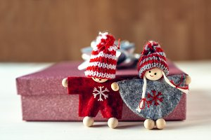 Couple of christmas dolls
