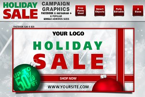 Holiday Sale Campaign Graphics.