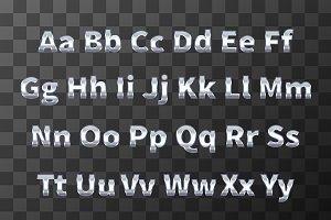 Chromium metal font
