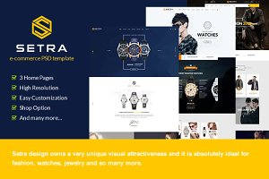 Setra - Ecommerce PSD Template