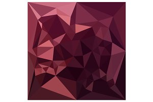 Dark Raspberry Red Abstract