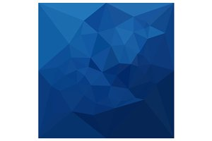 Egyptian Blue Abstract Low Polygon