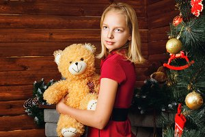 Girl and Christmas