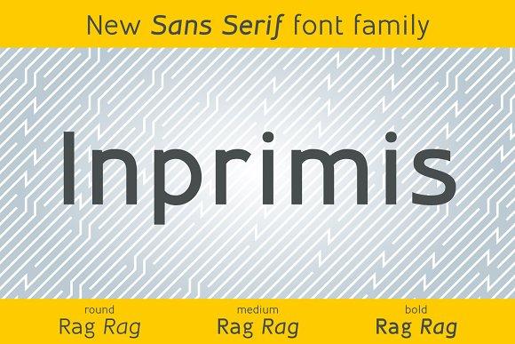 Inprimis New Sans Serif Typefamily