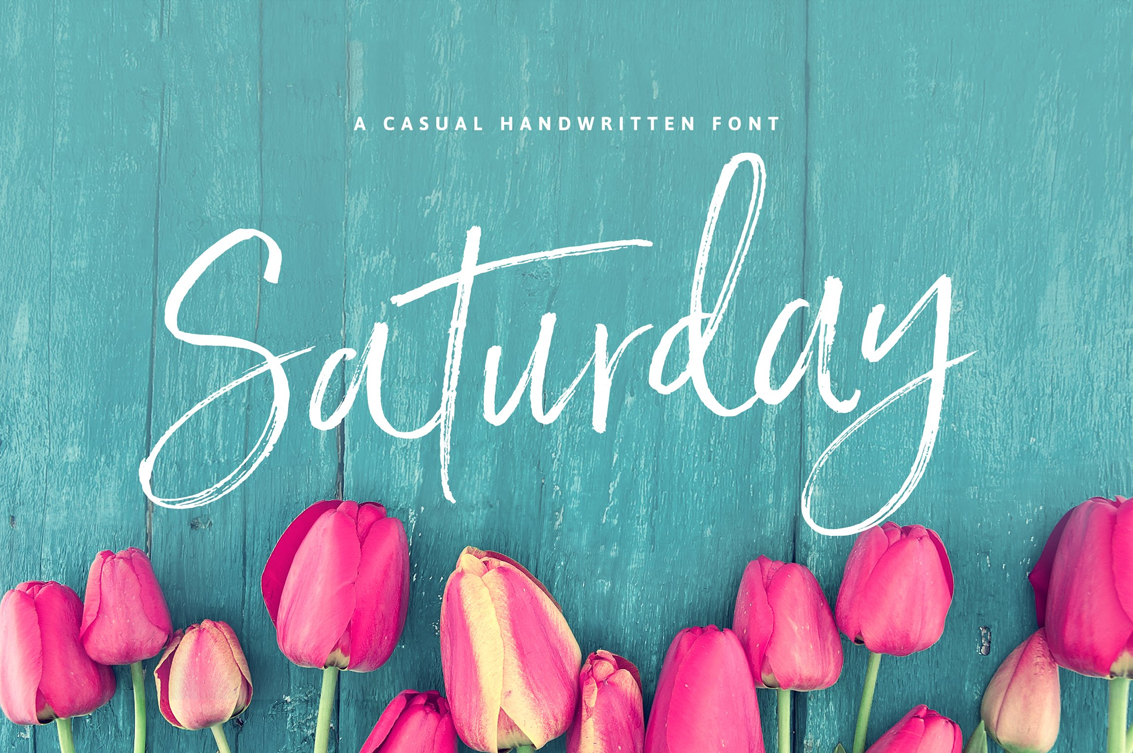 saturday script brush font script fonts creative market