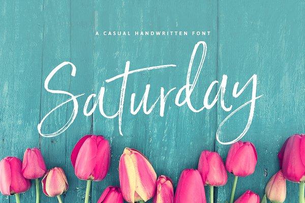 Saturday Script Brush Font