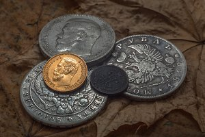 gloss of a gold coin