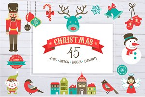 50% OFF - Christmas set of icons