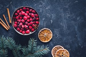 Winter still life, wallpaper