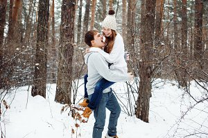 Couple in love having fun