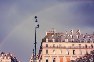 Street View with Rainbow