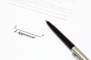 Sign name on document