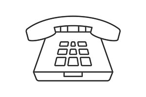 Deskphone thin line icon