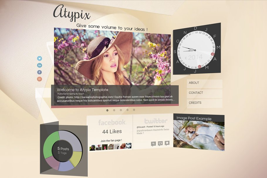Atypix : 3D WebGL theme for Ghost