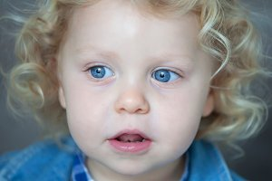 Beautiful blond baby