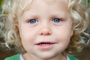 Beautiful blond baby