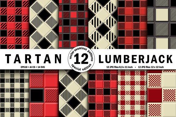 3D  Lumberjack Tartan Seamless