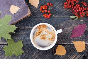 Cozy coffee cup concept