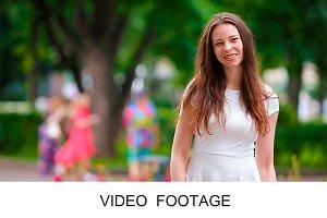 Beautiful young woman portrait park