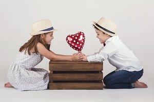 children in love