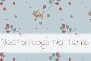 Vector dogs patterns