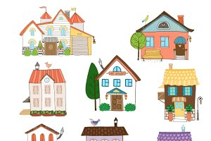 Assorted cute houses collection