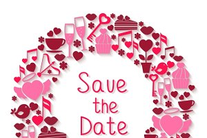 Save the Date romantic symbol