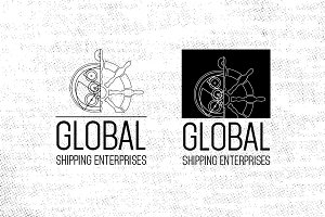 Global Shipping Logotype