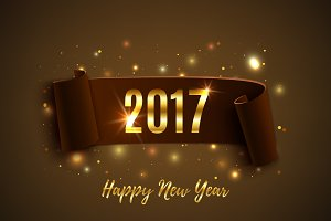 Happy New Year 2017 background.