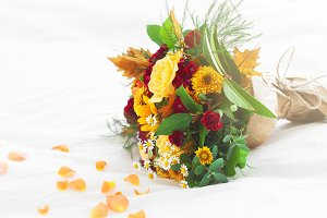 Love or holiday concept, flowers