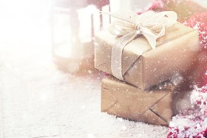 Xmas or christmas concept, gifts
