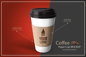 Coffee - Paper Cup Mockup