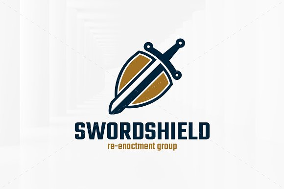 Sword Shield Logo Template