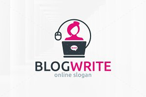 Blog Write Logo Template